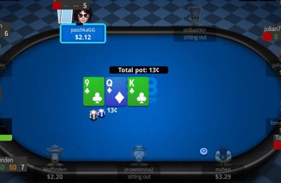 Poker room 888poker table view