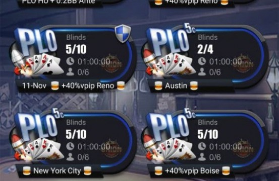 Poker room PokerBros tables