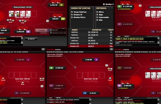 Poker Room Bodog table view