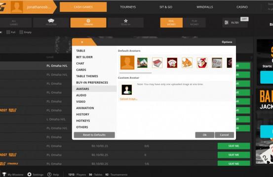 Poker room TigerGaming settings
