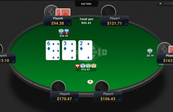 Poker room PartyPoker table view