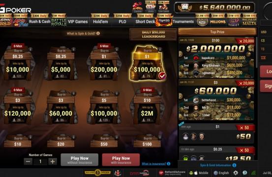 BetKings Poker Room lobby view 2021