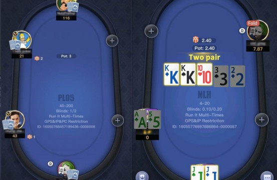 Xpoker tables