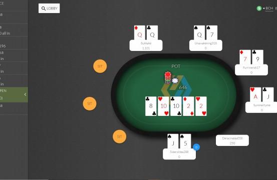Poker Room Blockchain Poker table