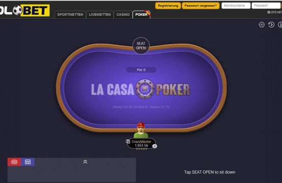 2021 Poker Room Solobet table view
