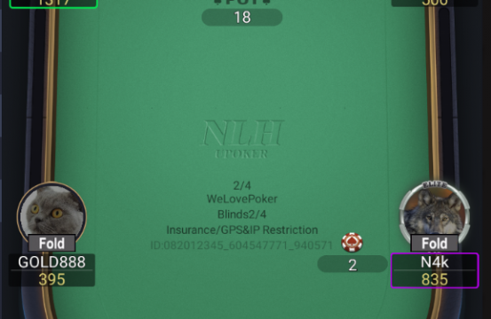 upoker table