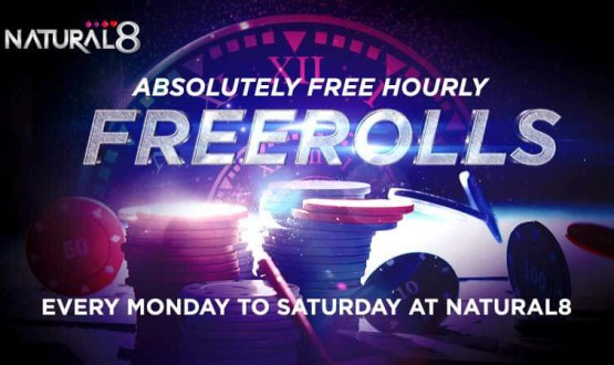 Natural8 Offering Hourly Freeroll Tournaments From Mon to Sat image