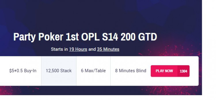 Online Poker League Season 14 returns on PartyPoker and has already kicked off image