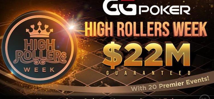 GGPoker's High Rollers Week with $ 22 M GTD starts this Sunday image