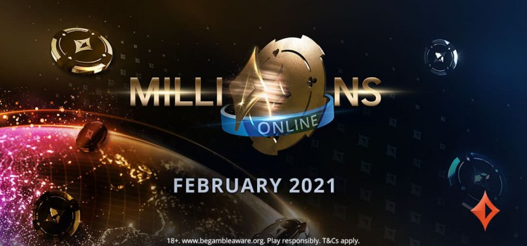 Millions Online 2021 tournament series set to return in February at PartyPoker image