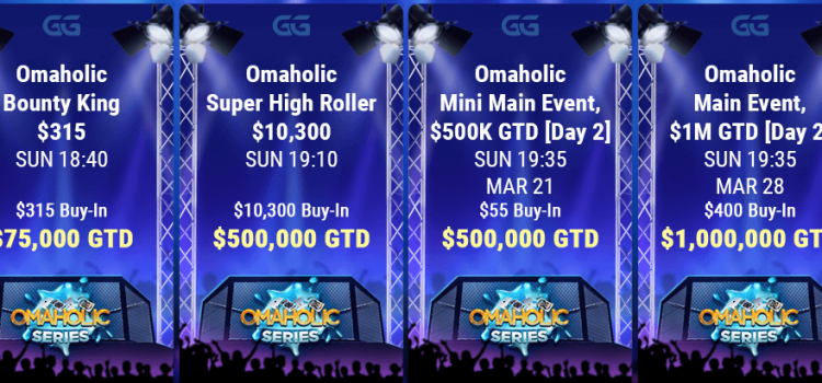GGPoker Omaholic Tournament - March 14-28 featuring $7M GTD image
