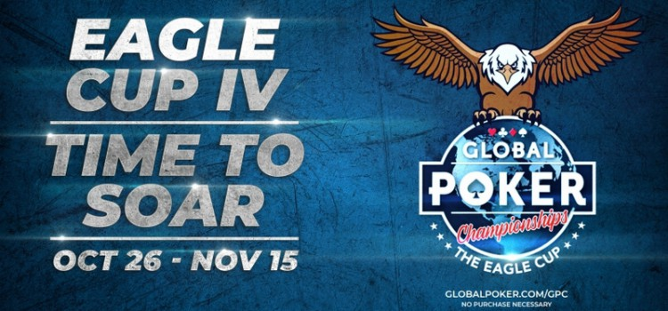 Global Poker's Eagle Cup Returns on Oct 26 with a $ 1.2 million SC GTD prize image