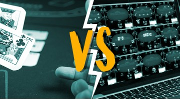 Choosing between live and online poker image