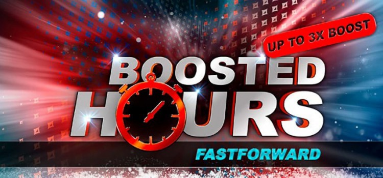 PartyPoker Boosted Hours on Fast Forward until Oct 17 image