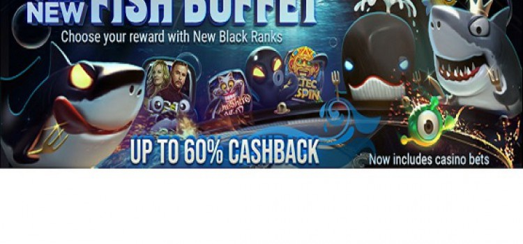 GGPoker New Fish Buffet - flat cashback up to 60% image