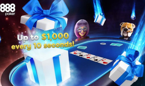 888poker New Turbo Drop Promotions - up to $ 1 k in gifts every 10 s image