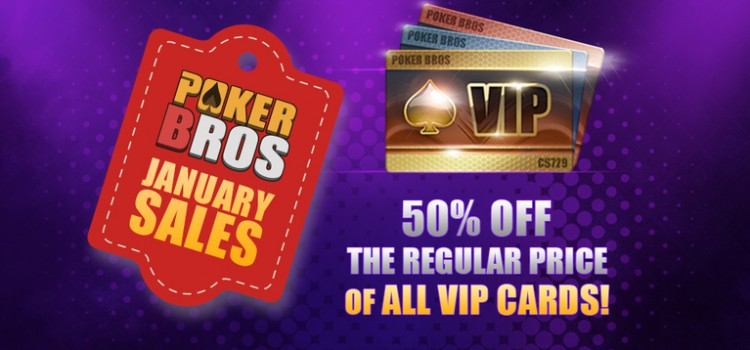 PokerBros VIP cards are now 50% off (until Jan 14) image