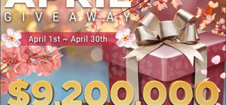 April 2021 Cash Giveaway at GGPoker - $9,2 million in prizes image