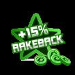 +15% rakeback poker prize image